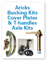 Aricks bushing kits, Cover plates & T-handles, Axle kits