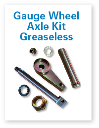 Gauge wheel axle kit